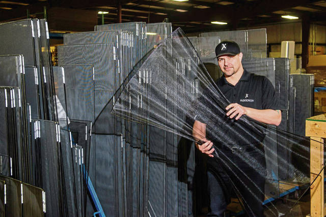 Joe Altieri, president of window screen manufacturer FlexScreen in Murrysville, poses for a portrait.